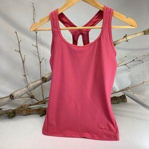 Nike Fit Dry ladies coral pink tank top Med